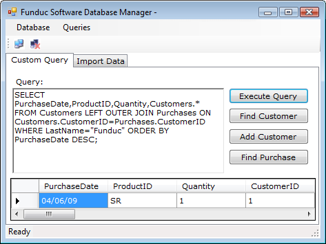 Funduc Software Database Manager