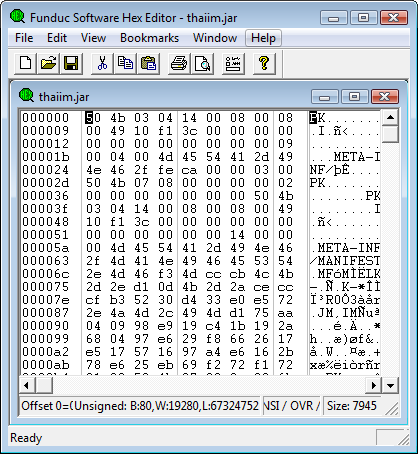 Funduc Software Hex Editor 64-bit screenshot