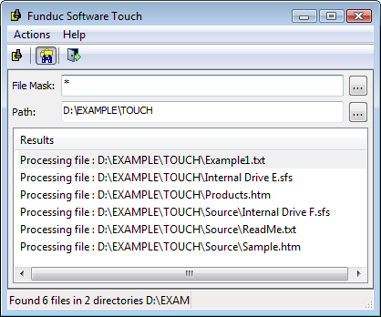 Funduc Software Touch Utility - A free program to change file time, date, and attributes on Windows XP, Vista, Windows 7, & Windows 8.