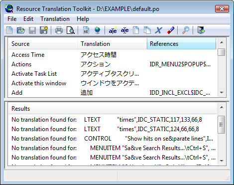 Resource Translation Toolkit