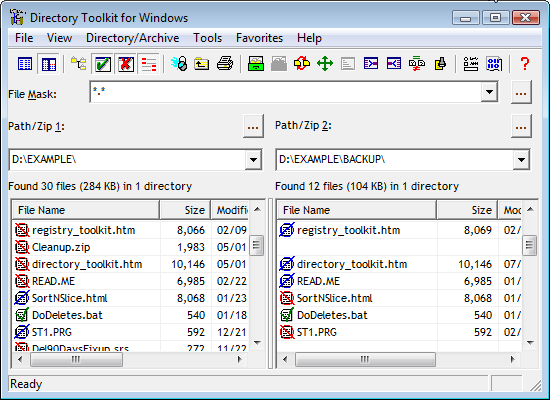 Directory Toolkit - Funduc Software